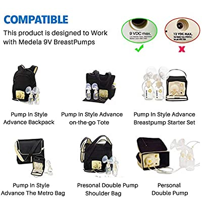 9 Volt Car Vehicle Lighter Adapter for Medela Pump-in-Style Advanced Breast Pump, CE FCC Approved Power Adapter Replaces Part # 67174: Home Audio & Theater