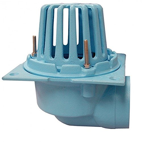 3 Code Blue No-Hub Roof Drain with Side Outlet