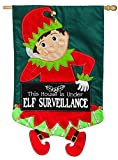 Cheap Evergreen Elf Surveillance Applique House Flag, 28 x 44 inches