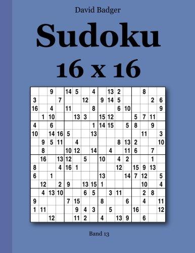 Download Sudoku 16 x 16: Band 13 (German Edition) pdf epub