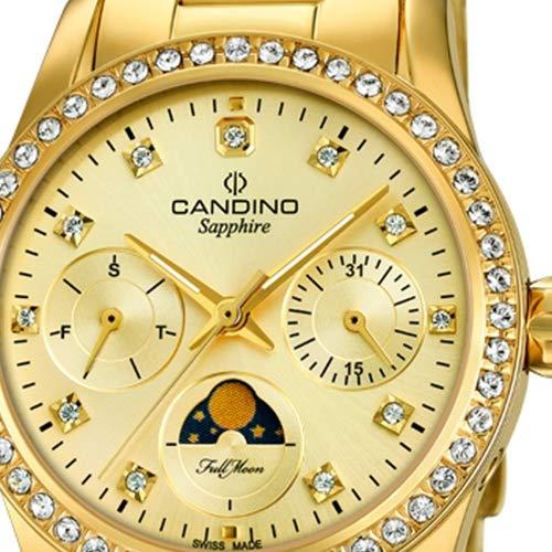 Candino Mujer Reloj De Cuarzo c4689/2 Acero Inoxidable Reloj de Pulsera Fashion Oro uc4689/2: Amazon.es: Relojes