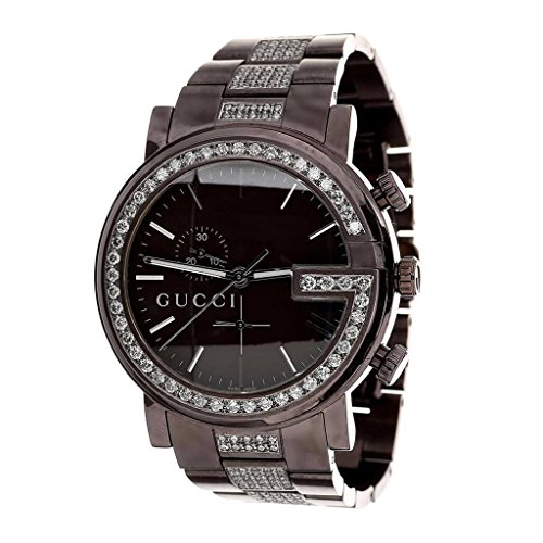 Brown PVD Gucci Watch Mens Stainless Steel YA101331 45 MM 6 Ct
