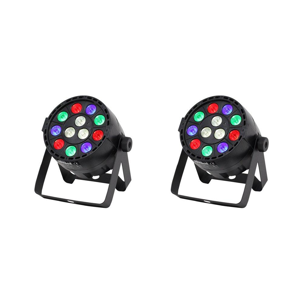2x Equinox Micro Batt LED Par Can Uplighter Battery + Remote