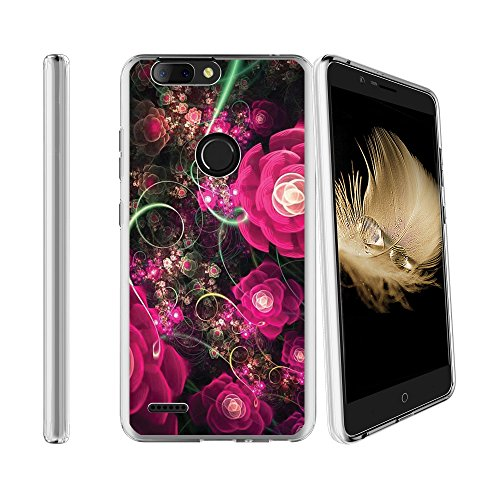 Compatible with ZTE Blade Z Max Sequoia Z982 Soft Flexible TPU Gel Skin Case [Ultra Slim] Cover - Midnight Roses