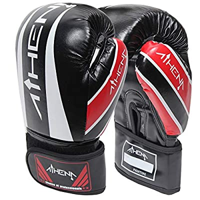 Athena Kickboxing Gloves for Women, Perfect for Sparring, Bag Work and Cardio Training Workouts. Includes Free Bonus Equipment Gear Bag. Women's Sizes 8, 10, 12, 14, 16 oz.