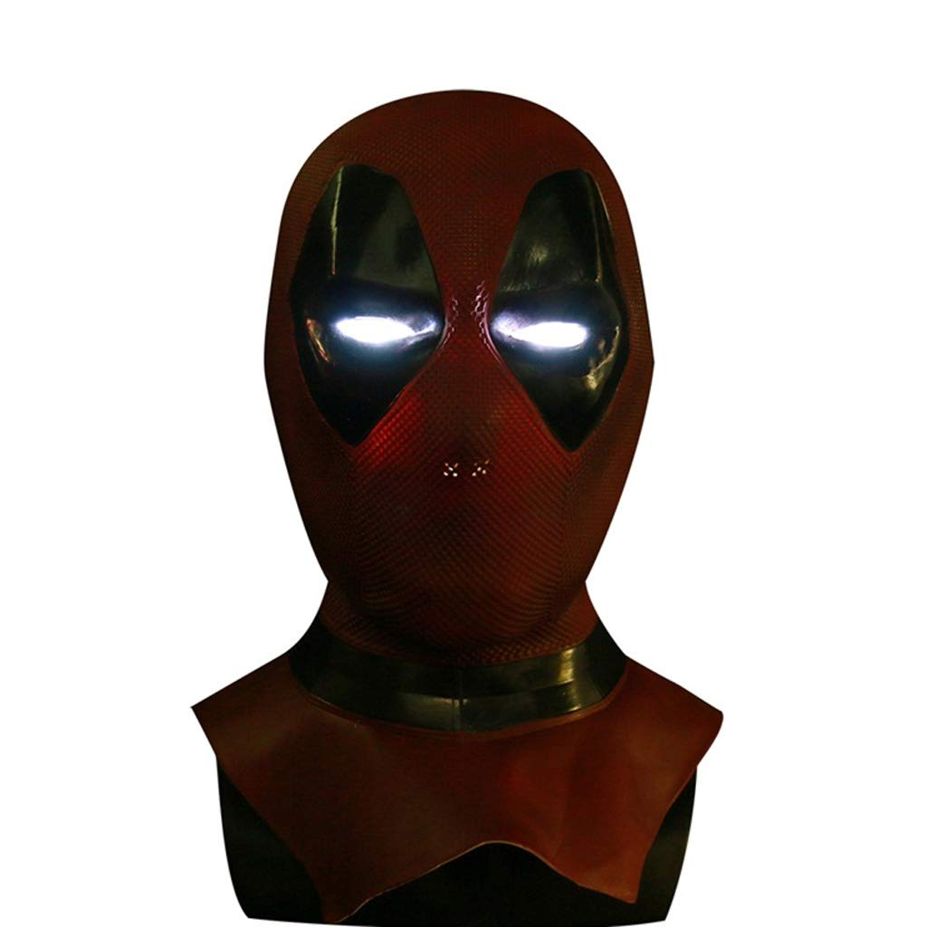 B Mask Death Wig Latex PVC Halloween Helmet Cosplay Props Head Cover Deadpool (color   A)