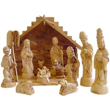 Amazon Com Olive Wood Nativity Set Modern Style Home