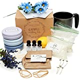 Nature's Blossom Candle Making Kit – Make 3 Scented Soy Candles. A Complete Beginner's Set With 1.5 lb. Soy Wax, Melting Pitcher, Tin Containers, Wicks, Lemon, Lavender & Chamomile Fragrances & more