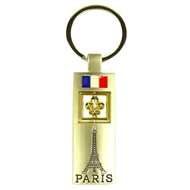 Amazon.com: Souvenirs of France - Llavero de metal con flor ...