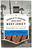 People's Choice Beef Jerky - Tasting Kitchen - Cowboy Peppered - Gourmet Handmade Craft Meat Snack - 2.5 OZ Bag