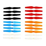 Coolplay Colorful Main Blades Propellers Spare Parts for Syma X8 X8C X8W X8G X8 Series 2.4G RC Quadcopter- Upgraded 5 Color