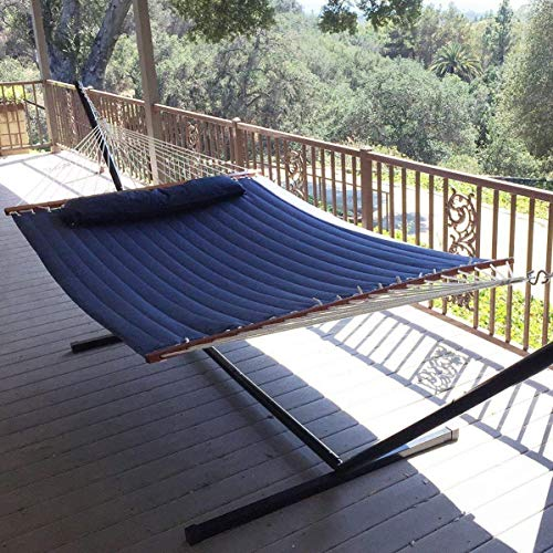 Vansaile Hammock Outdoor Quilted Cotton Fabric Beach Rope Hammocks Patio  Hammock Bed Swing Bed Back Yard