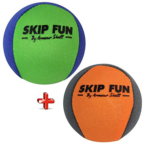 Water Balls Bounce On Water - Pool Ball & Beach Toys for Kids & Adults. Extreme Skipping Fun Games Everyone Will Love. Skip While Swimming & Keep Toddlers / Older Kids Having a Blast (Mixed, 2 Pack)