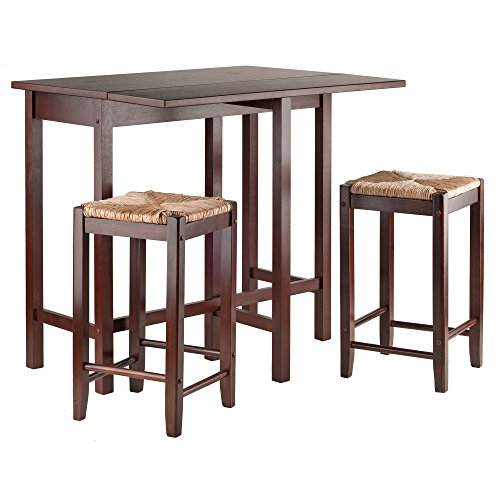 Price comparison product image Winsome Lynwood Drop Leaf Table with Rush Seat Stool,  3-Piece