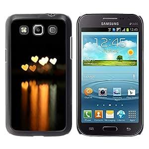 Be Good Phone Accessory // Dura Cáscara cubierta Protectora Caso Carcasa Funda de Protección para Samsung Galaxy Win I8550 I8552 Grand Quattro // Bokeh Lights Hearts