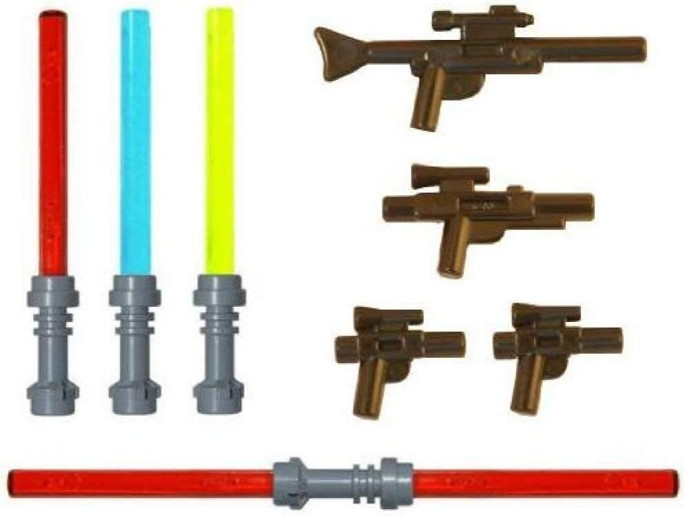 LEGO Lightsaber & Blaster Rifle Pack (4 Lightsabers) (4 Blasters) - LEGO Star Wars Minifigure Accessories