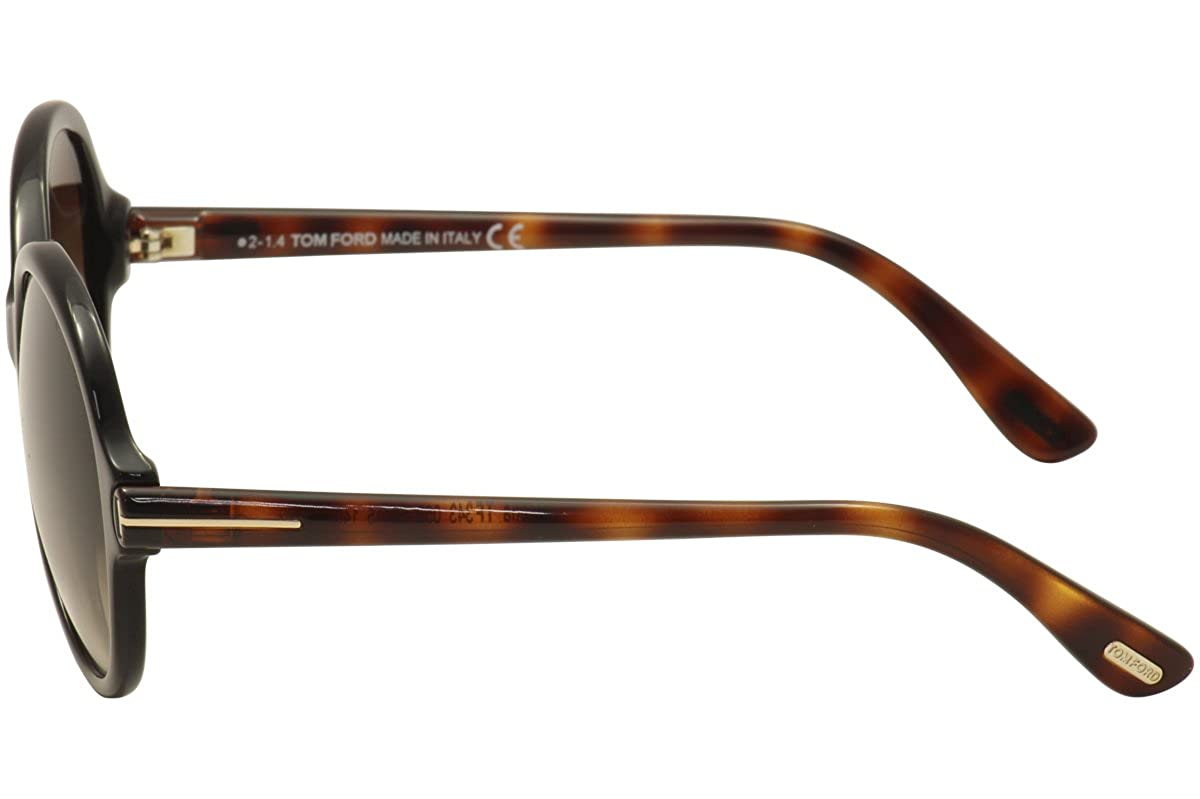 c3bcc2256ec3 Amazon.com  Tom Ford Sunglasses - Milena   Frame  Brown with Havana Temples  Lens  Brown Gradient  Clothing