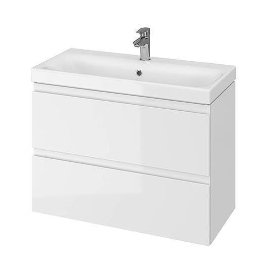 VBChome - Mobile da bagno Slim, lavabo con mobiletto, 2 ...