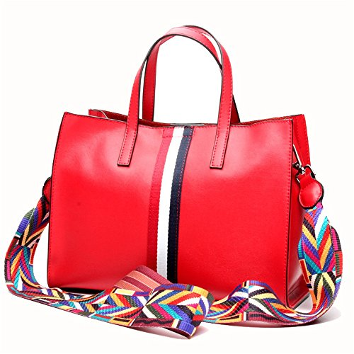 Bag Borsa donna Tote Borsa Elegant SatchelcoloreMarroneRosso Messenger tracolla a mano da a donna Jxth Bags da 6gyfIvYb7