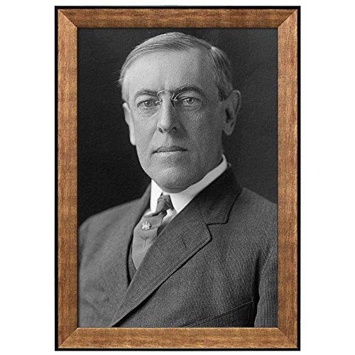 Portrait of Woodrow Wilson (28th President of the United States) American Presidents Series Framed Art Print