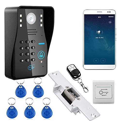 maotewang 720P Wireless WiFi RFID Contraseña Vídeo Sistema de Comunicación de puerta teléfono timbre + Sistema de Control...