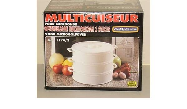 PLASTICOS DE GALICIA-Olla multifunción DE 3 estantes plástico 20 cm *: Amazon.es: Hogar