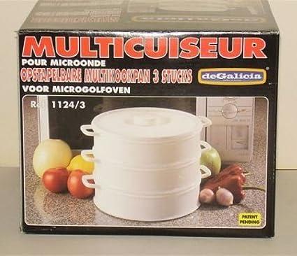 PLASTICOS DE GALICIA-Olla multifunción DE 3 estantes plástico 20 cm ...