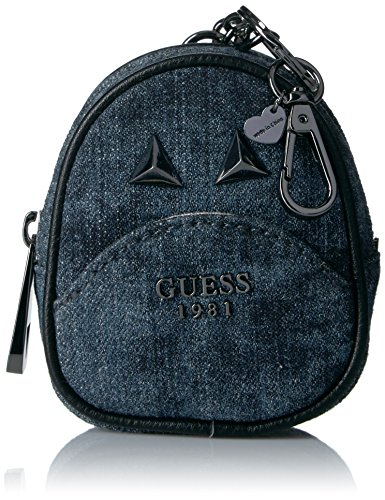 GUESS Women's Bradyn Gifting Denim Backpack Keychain Coin Purse
