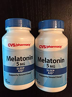 LOT OF 2!! cvs MELATONIN 5mg Sleep Aid 60 Tablets EACH