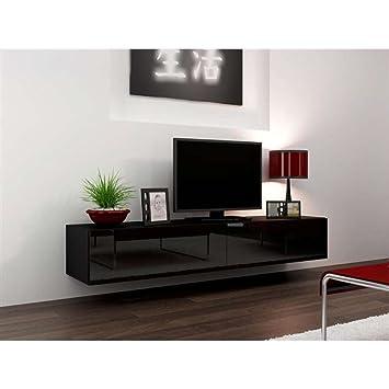 JUSThome Vigo Lowboard TV-Board Fernsehtisch 180 cm Farbe: Schwarz ...