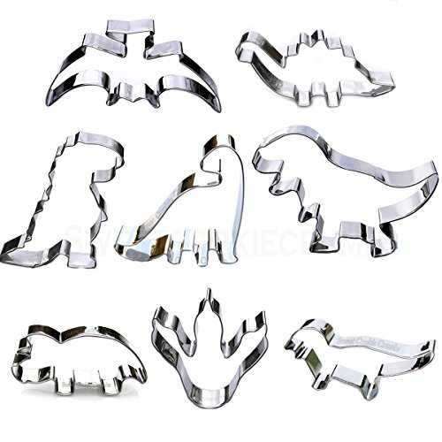 Dinosaur Cookie Cutter Set - 8 Piece Set]()