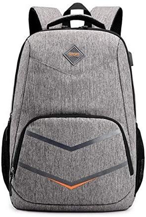 Männlich Wasserdicht USB-Ladetasche Studententasche Rucksack Reisetasche Outdoor-Tasche Wandern Camping Rucksack Männlich, Grau