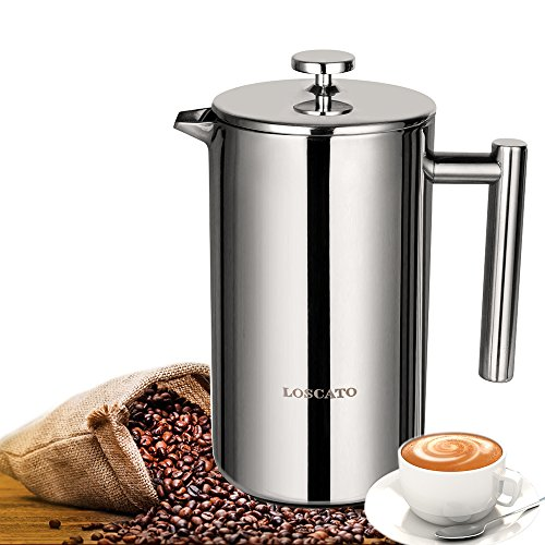 double wall steel french press - 5