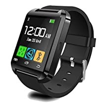 Aipker U8 Bluetooth Smart Watch with Altimeter for Samsung LG Sony Android Phone Black