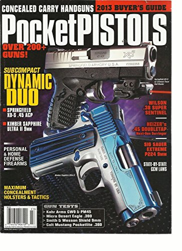 CONCEALED CARRY HANDGUNS POCKET PISTOLS, 2013 BUYER GUIDE OVER 200+ GUNS ! (