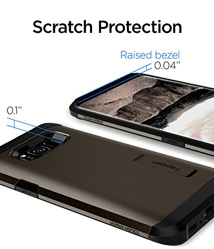 Spigen Tough Armor Galaxy S8 Case with Reinforced Kickstand and Heavy Duty Protection and Air Cushion Technology for Samsung Galaxy S8 (2017) - Gunmetal by Spigen (Image #7)
