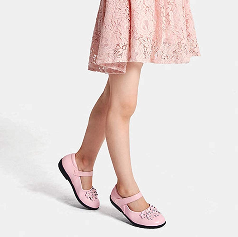 F-OXMY Girls Comfy Soft Mary Jane Shoes Cute Flower Princess Dress Ballet Flat Shoes Toddler//Little Kid
