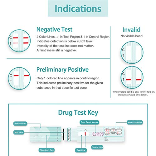 Easy@Home 10 Pk Alcohol Ethyl Glucuronide EtG Urine Test Panel Strips, Home Testing kit for Drinking Detox,80 hr Drug Test Detection time exceeds breathalyzer Saliva Drink Tester,500 ng/mL #EtG-114