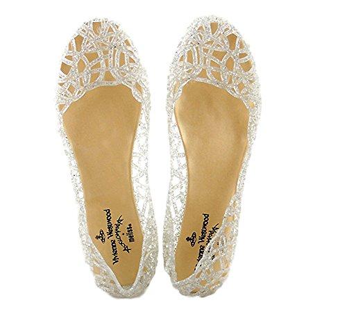 Women High Heels Fashion Breathable Sandals (Silver) - 9