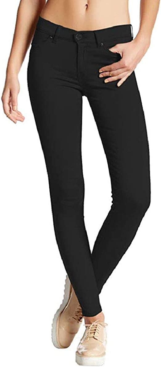 FRPE Womens Skinny Casual Solid Stretch Jeans Denim Pants