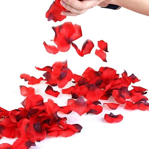 Rose Petals, 3000 Pcs Red Silk Petals for Wedding, Romantic Night Party Decoration