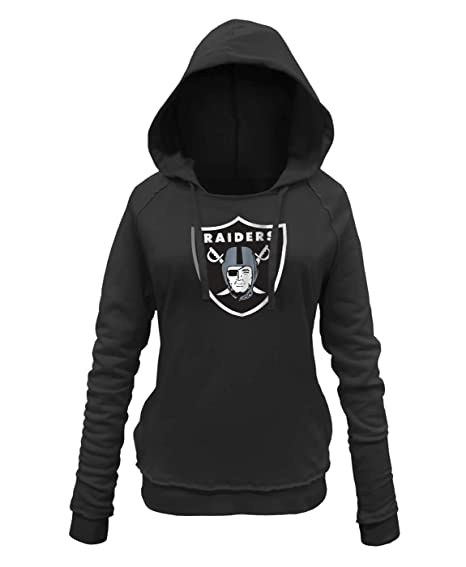 88010e13 New Era Oakland Raiders Women's NFL Post Route Pullover Hooded Sweatshirt