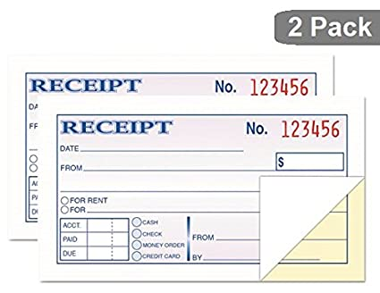 amazon com 1intheoffice money and rent receipt 2 3 4 x 5 3 8