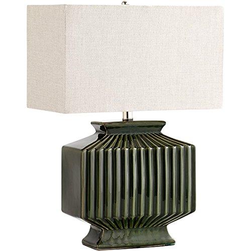 Hamilton Green Ceramic Large Ribbed Table Lamp