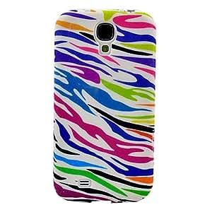 MOFY-Zebra Stripe Pattern Print TPU caja colorida suave para Samsung Galaxy S4 i9500