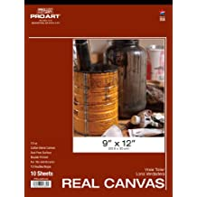 Pro Art 9-Inch by 12-Inch Real Canvas Pad