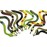 Fun Central AU077 14 inch, Toy Rubber Snake, Rubber Snake, Snake Toys, Snake Toy, Rubber Snakes, Rubber Snakes for Garden, Kids, Party Favors and more,12 count