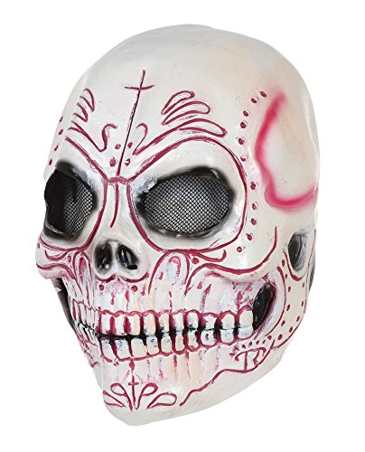 Bristol Novelty BM520 Skull Mask Colourful Latex, One Size