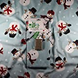 Priscilla's Pet Products Cat Blanket 24 x 24 Cozy Soft with Built in Corner Pocket for Catnip (Snowman)