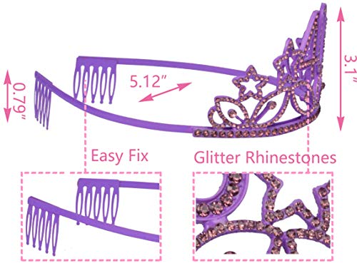 40th Birthday Sash and Tiara 40 and Fabulous Glitter Purple Satin Sash and Rhinestone Tiara for Women Birthday Decorations Gifts and Party Supplies